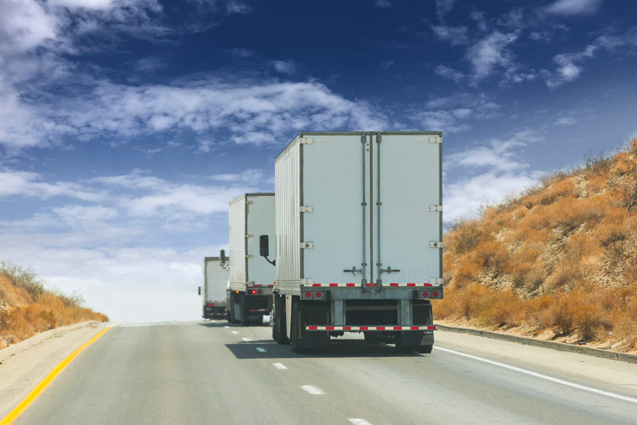 Ways to drive safely near commercial trucks in Tennessee.