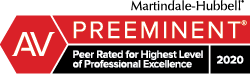 Matindale - Hubbel AV Preeminent Peer Rated for Highest Level of Professional Excellence 2018